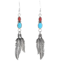 Turquoise Coral Earrings 26205