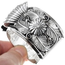 Sterling Silver Navajo Cuff Watch 12805