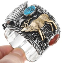 Elk Design Watch Cuff Bracelet 16025