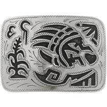 Bear Paw Silver Belt Buckle 22896