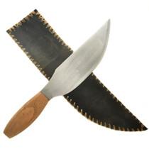 Steel Skinner Knife and Sheath 18749