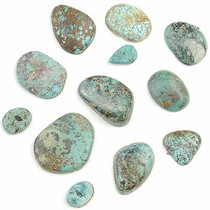 BOULDER & PICTURE MOUNTAIN Turquoise Cabochons Various Shapes 310 Carats