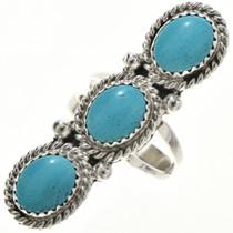 Kingman Turquoise silver Ring 27254