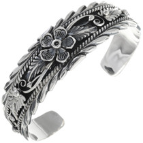 Native American Traditional Silver Bracelet 14581