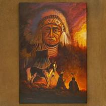 JC Black Navajo Painting