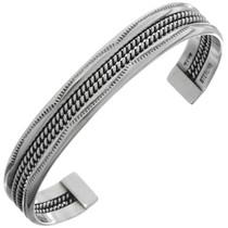Navajo Silver Cuff Bracelet 14618