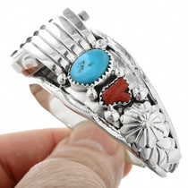 Navajo Made Ladies Watch Cuff 24433