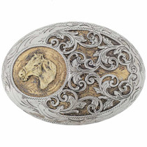 Fancy Gold Silver Western Buckle 20016