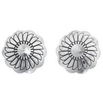 Sterling Silver Concho Earrings (High Shine) 20757