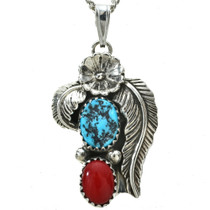 Navajo Leaf Pendant With Chain 26438