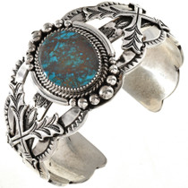 Navajo Crossed Arrows Turquoise Cuff 20943