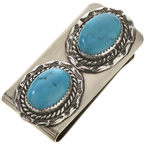 Turquoise Silver Money Clip 22269