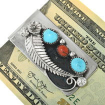 Turquoise Coral Southwest Money Clip 24292