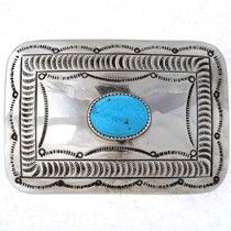 Turquoise Silver Belt Buckle 23027