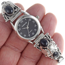 Ladies Black Onyx Watch 23007