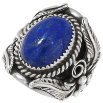 Native American Big Boy Lapis Ring 25688