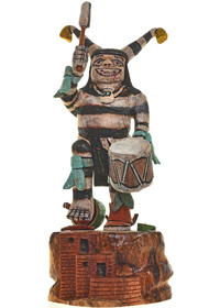 Koshare Kachina Doll 26905