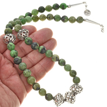 Navajo Beaded Gemstone Necklace 22243