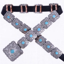 Sleeping Beauty Turquoise Concho Belt 19240