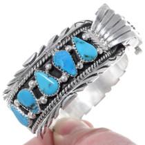 Silver Turquoise Bracelet Watch 24441