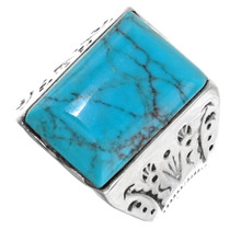 Turquoise Silver Ring 25492