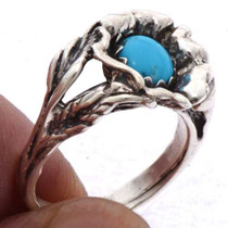 Ladies Turquoise Silver Ring 25541