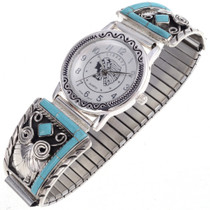 Inlaid Turquoise Mens Watch 24444