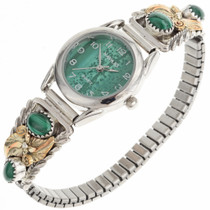 Malachite Gold Ladies Watch 24350