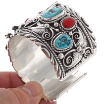 Turquoise Coral Mens Bracelet 15868