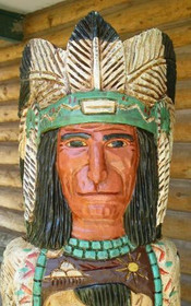 Tribal Chief Aspen Wood Carving 33989