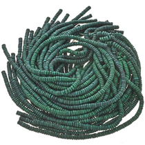 8mm Green Wooden Beads 16 inch Strand