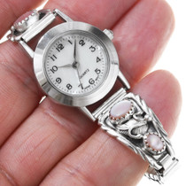 Mother of Pearl Pink Shell Navajo Ladies Watch 23093