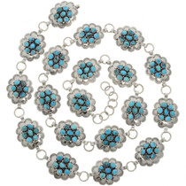 Turquoise Cluster Concho Belt 25745