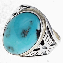 Mens Turquoise Ring 24338