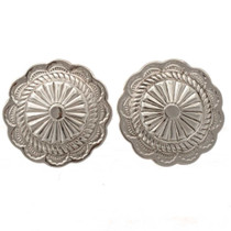 Silver Concho Cuff Links 19618