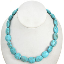 Chunky Turquoise Magnesite Beads 30864