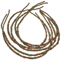 Unakite Rondelle and Tube Beads 0077