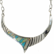 Chiseled Sterling Navajo Necklace 15152