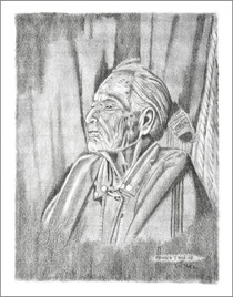 Native American Woman Elder Print 21112