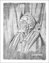 Native American Woman Elder Print 21112