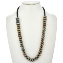 Nevada Turquoise Black Onyx Necklace 2325