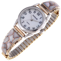 Pink Shell Gold Ladies Watch 24474