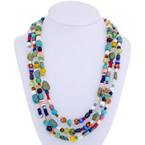 Navajo Treasure Bead Necklace 23520