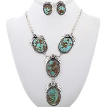 Genuine Turquoise Y Necklace Set 14519