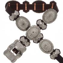 Navajo Silver Concho Belt 25407