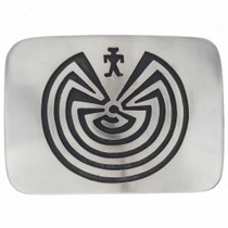 Man In The Maze Belt Buckle 25095