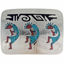 Hopi Kokopelli turquoise Belt Buckle 23488