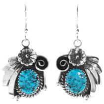 Genuine Natural Turquoise Earrings 27045