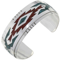Turquoise Coral Inlaid Bracelet 25737