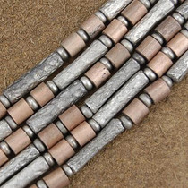 Wholesale Lot of 12 4mm to 5mm Silver and Copper Bali Bead Strands 1